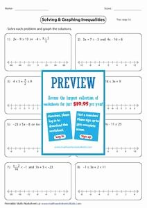 Solving Compound Inequalities Worksheet Awesome solve and Graph Pound Inequalities Worksheet for 9th