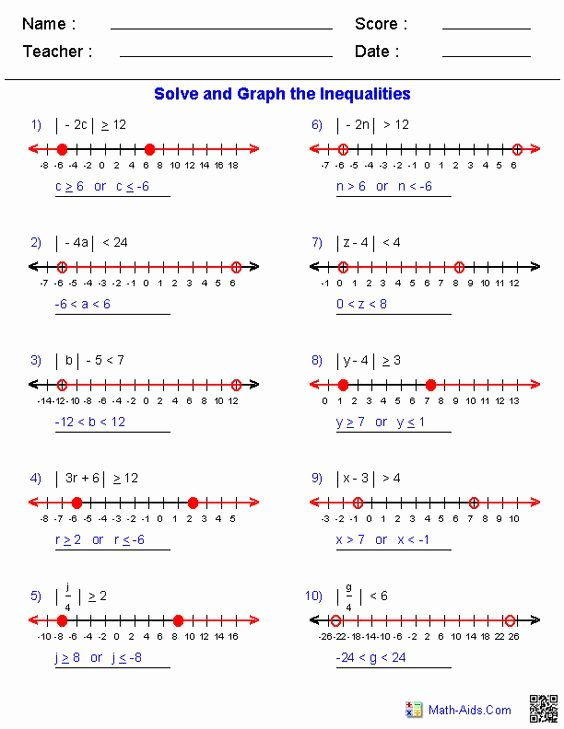 Solving Compound Inequalities Worksheet Awesome solving Pound Inequalities Worksheet Algebra 1 the Best