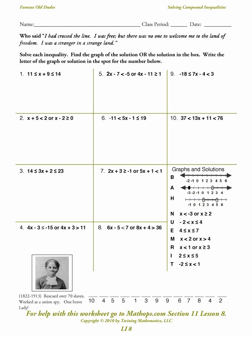 Solving Compound Inequalities Worksheet Elegant Pound Inequalities Math Fun