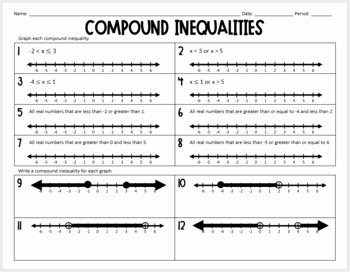 Solving Compound Inequalities Worksheet Fresh Pound Inequalities Practice Worksheet by Lisa