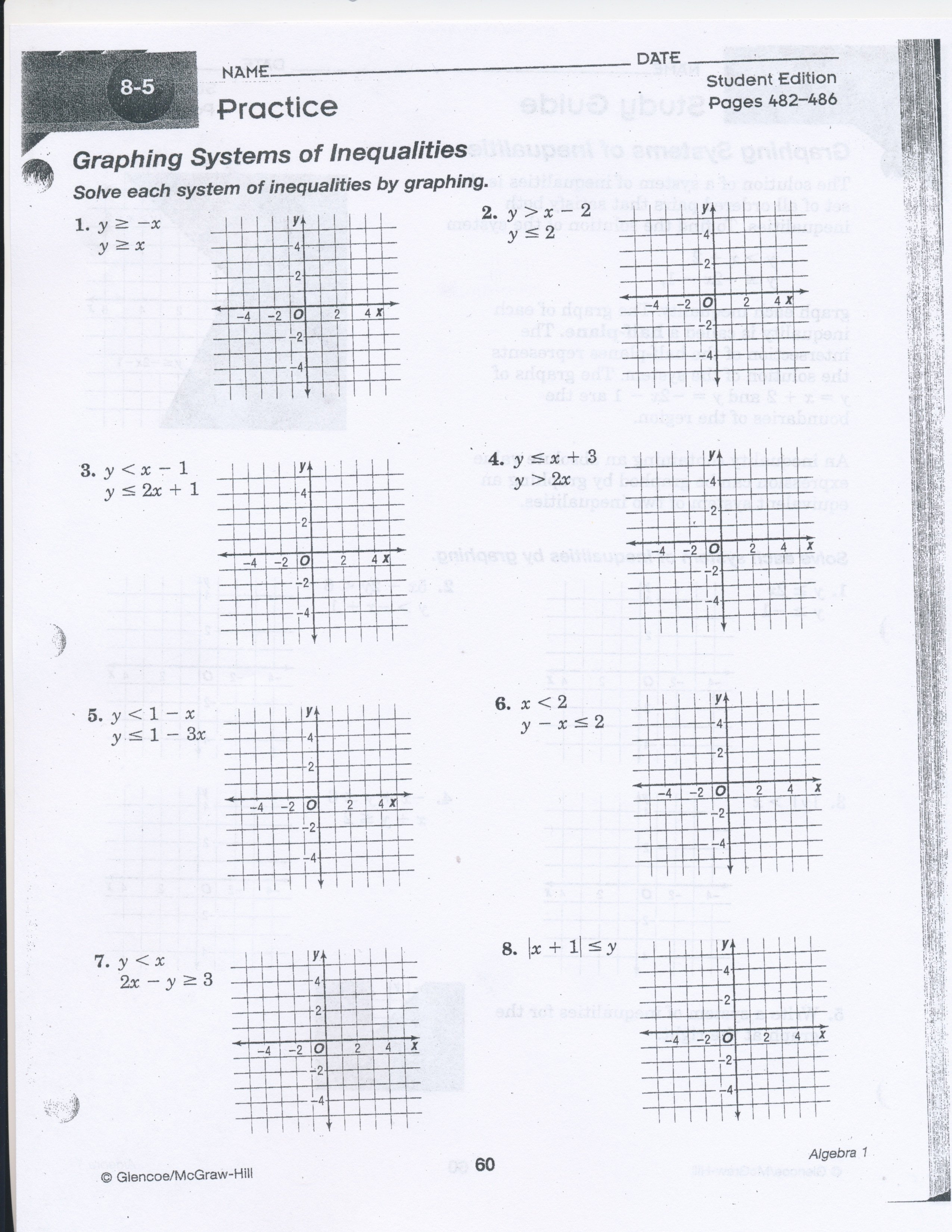 Solving Equations Review Worksheet Awesome Chapter 3 Lesson 7 solve Systems Equations by Graphing