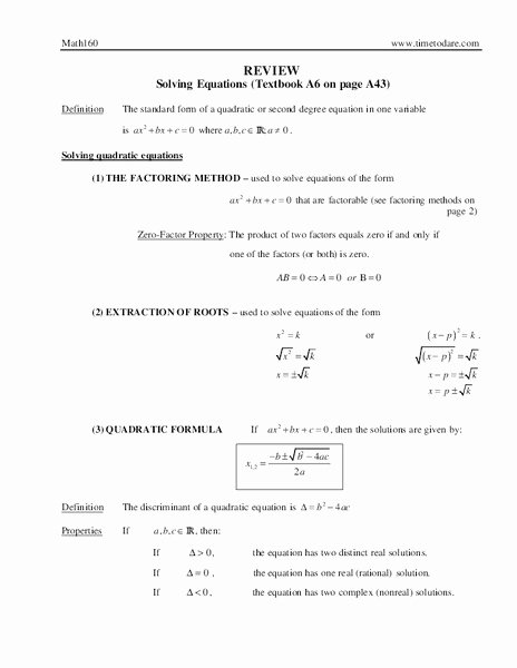 Solving Equations Review Worksheet Best Of Review solving Equations Worksheet for 9th 12th Grade