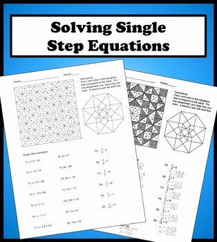 Solving Equations Review Worksheet Best Of solving Single Step Equations Color Worksheet by Aric