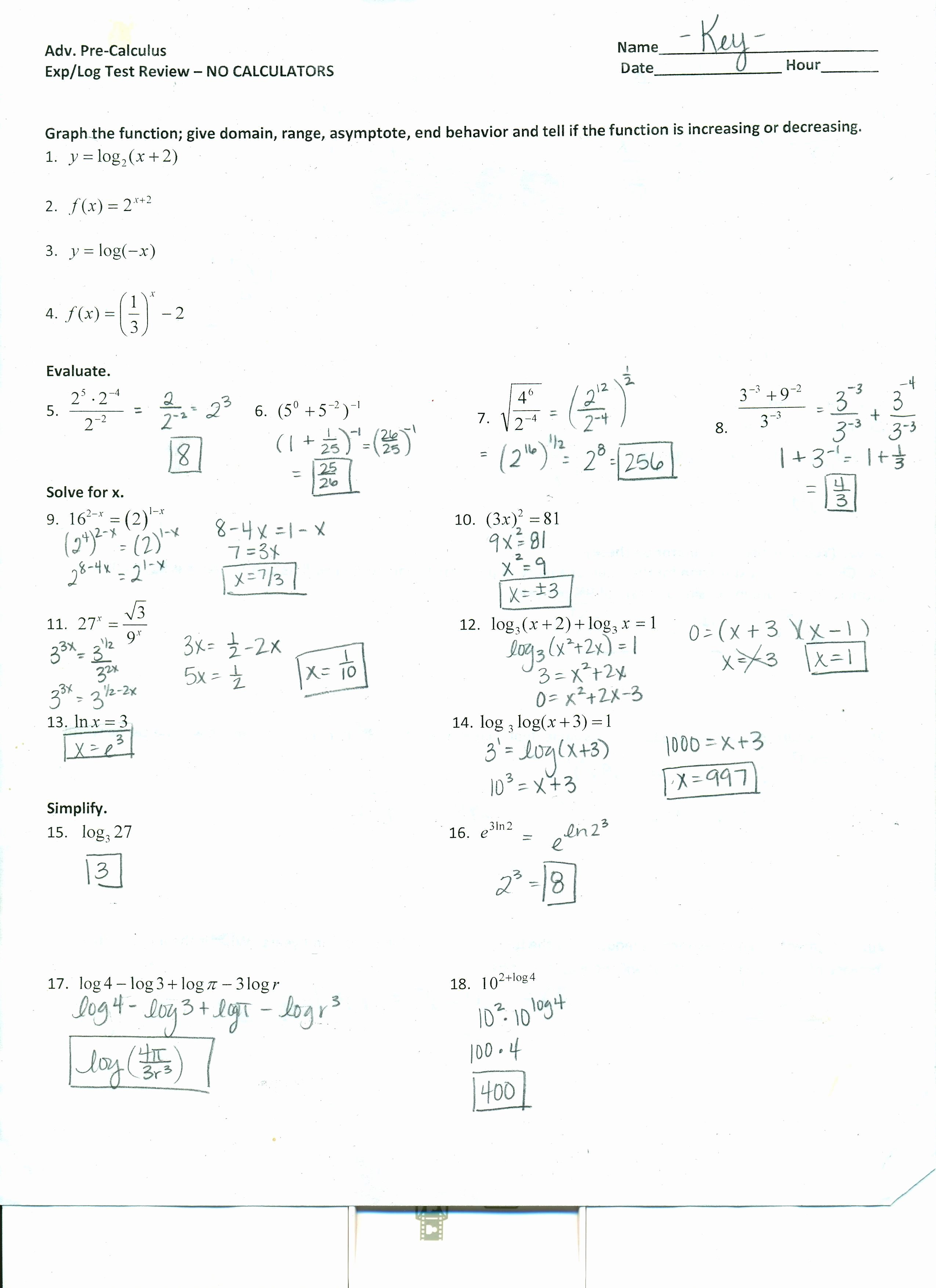 Solving Equations Review Worksheet Lovely Pre Calculus Worksheets Bluegreenish