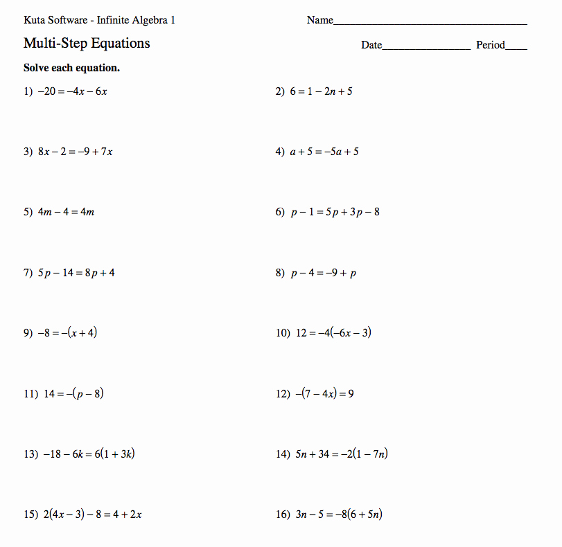 Solving Equations Review Worksheet Unique Pin On Teach Math