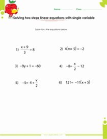 Solving Equations with Fractions Worksheet Elegant solving & Graphing Linear Equations Worksheets Pdf