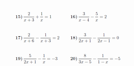 Solving Equations with Fractions Worksheet Inspirational Equations with Algebraic Fractions Worksheet with