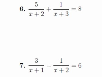 Solving Equations with Fractions Worksheet New 5 Gcse Igcse Worksheets On Algebraic Fractions with