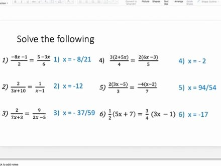 Solving Equations with Fractions Worksheet Unique solving Equations with Algebraic Fractions Lesson Series