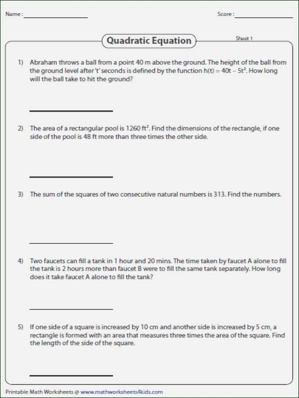 Solving Equations Word Problems Worksheet Luxury solving for Y Worksheet