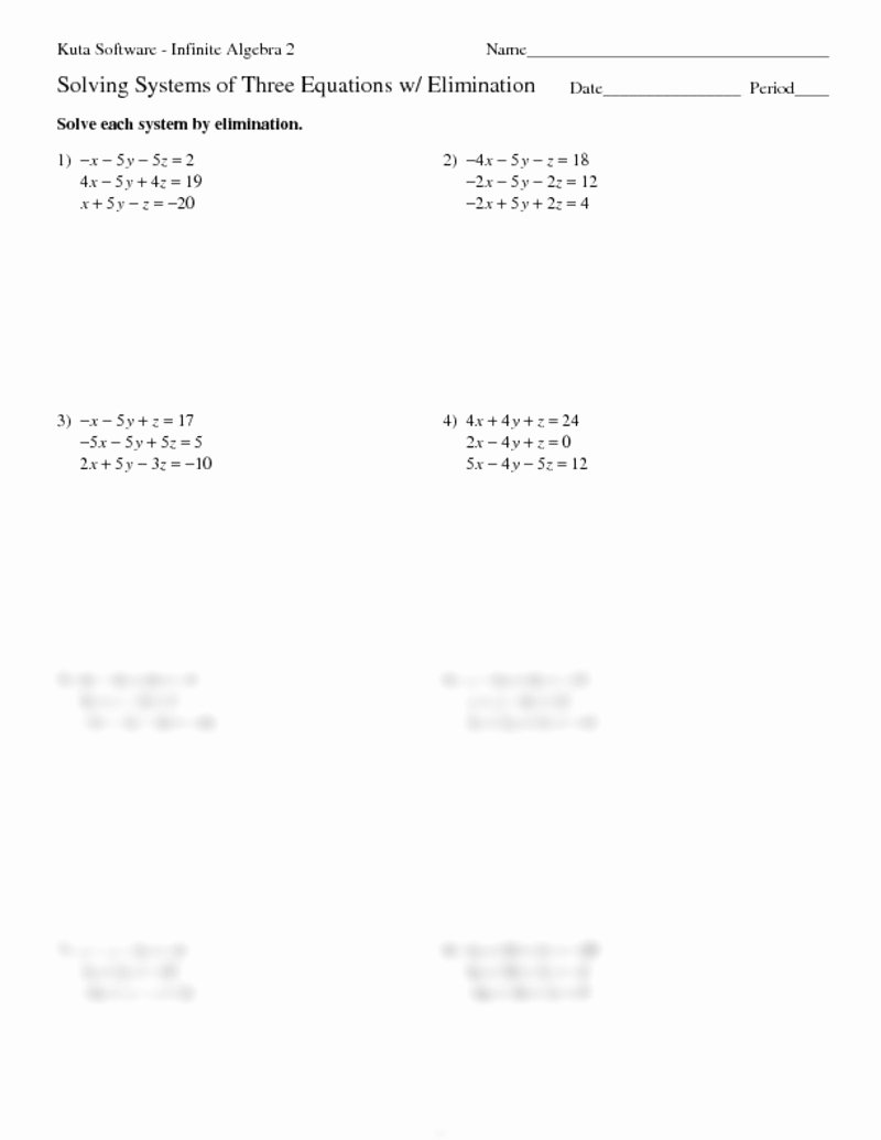 Solving Equations Worksheet Pdf Awesome solving Equations with Variables Both Sides Worksheet