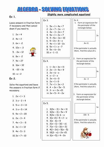 Solving Equations Worksheet Pdf Luxury solving Equations Worksheet by Judsonb