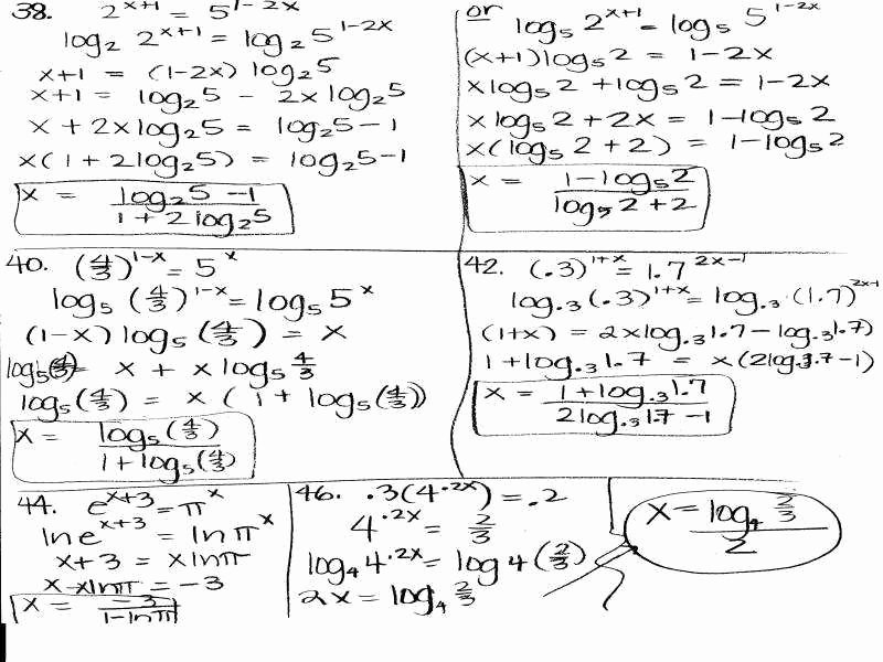 Solving Exponential Equations Worksheet Elegant solving Logarithmic Equations Worksheet