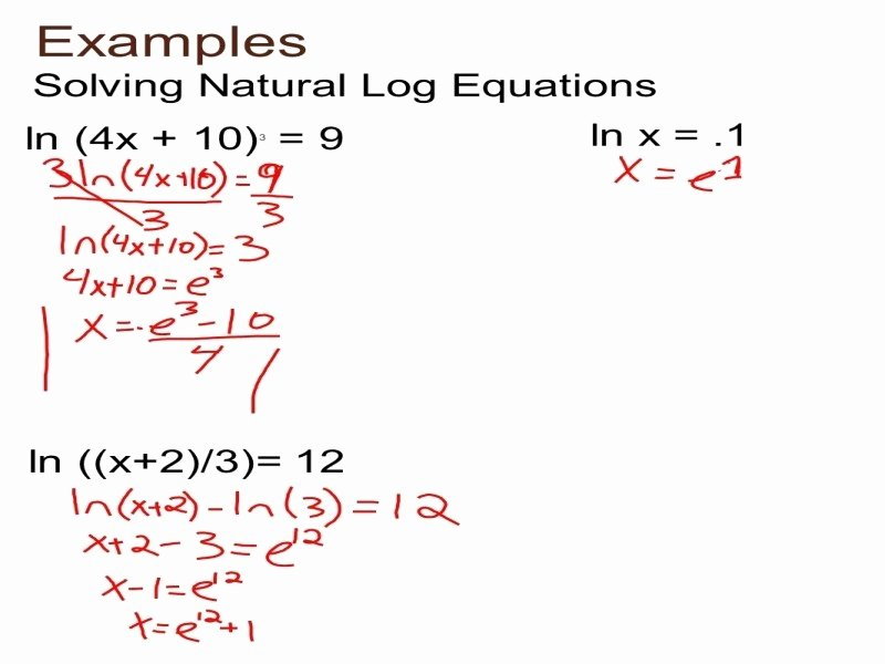 Solving Exponential Equations Worksheet Luxury solving Exponential and Logarithmic Equations Worksheet