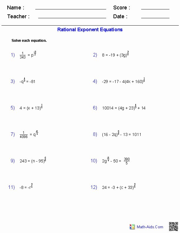 Solving Exponential Equations Worksheet New solving Exponential Equations Worksheet