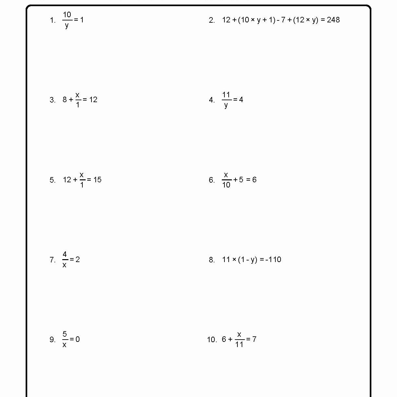 Solving for Y Worksheet Best Of solve for the Variables Worksheet 1 Of 10