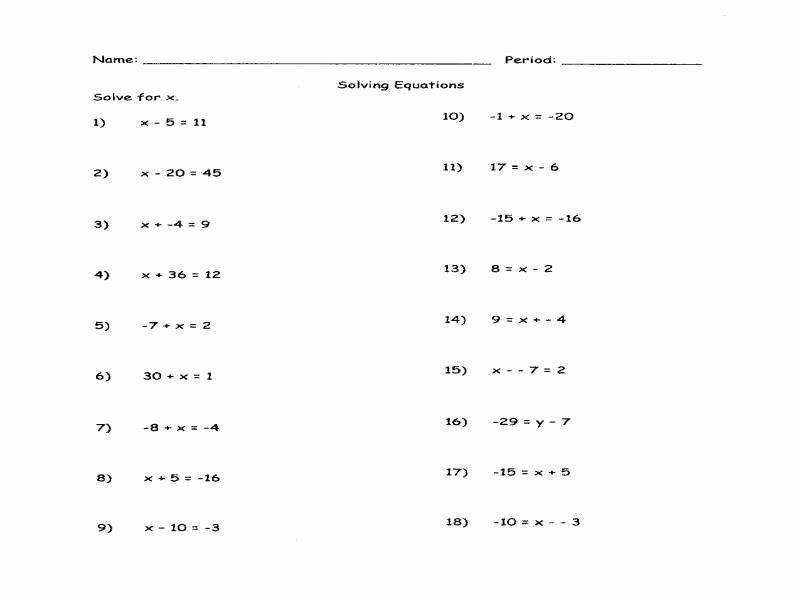 Solving for Y Worksheet Best Of solving for Y Worksheet