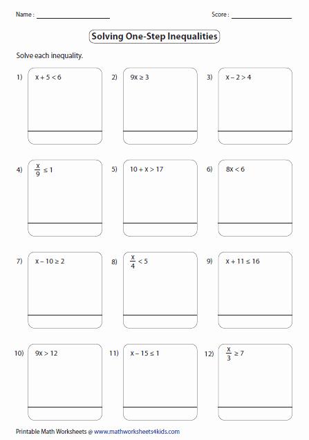 Solving Inequalities Worksheet Answer Key Awesome E Step Inequalities Worksheets