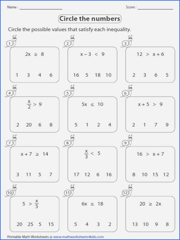 Solving Inequalities Worksheet Answer Key Best Of solving and Graphing Inequalities Worksheet Answer Key