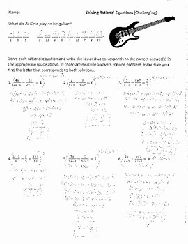 Solving Inequalities Worksheet Answer Key Inspirational solving Rational Equations Difficult Joke Worksheet with