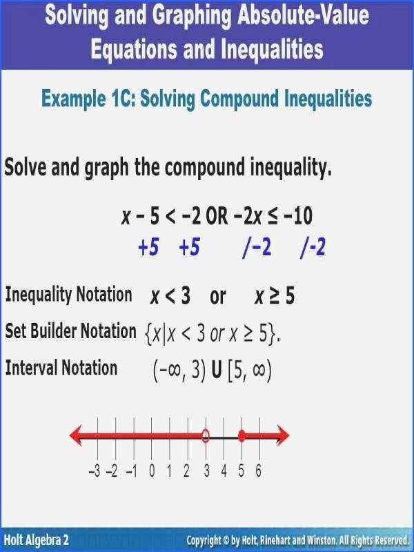 Solving Inequalities Worksheet Answer Key Unique solving and Graphing Inequalities Worksheet Answer Key