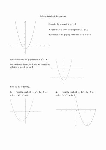 Solving Inequalities Worksheet Pdf Awesome solving Quadratic Inequalities Worksheet by Marcopront