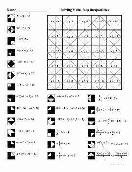 Solving Inequalities Worksheet Pdf Fresh solving Multistep Inequalities Color Worksheet by Aric