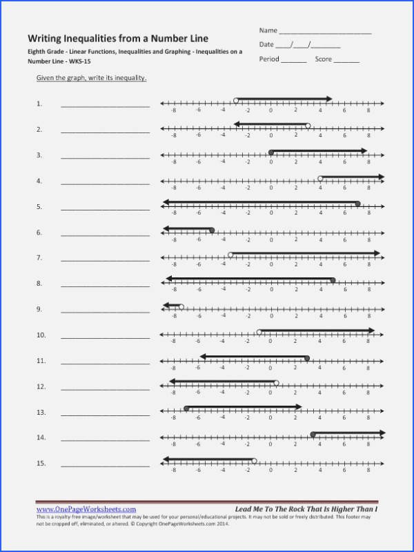Solving Inequalities Worksheet Pdf New solving and Graphing Inequalities Worksheet Answer Key