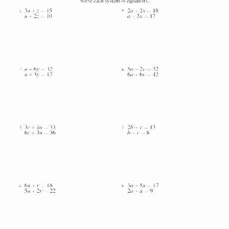 Solving Linear Equations Worksheet Pdf Fresh solving Linear Equations Word Problems Worksheet Pdf