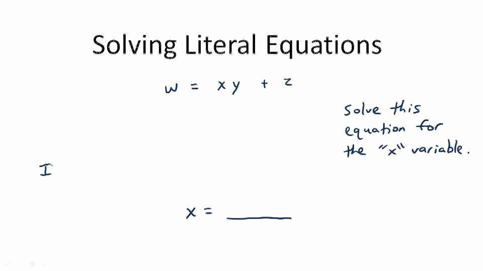 Solving Literal Equations Worksheet Luxury solving Literal Equations Worksheet