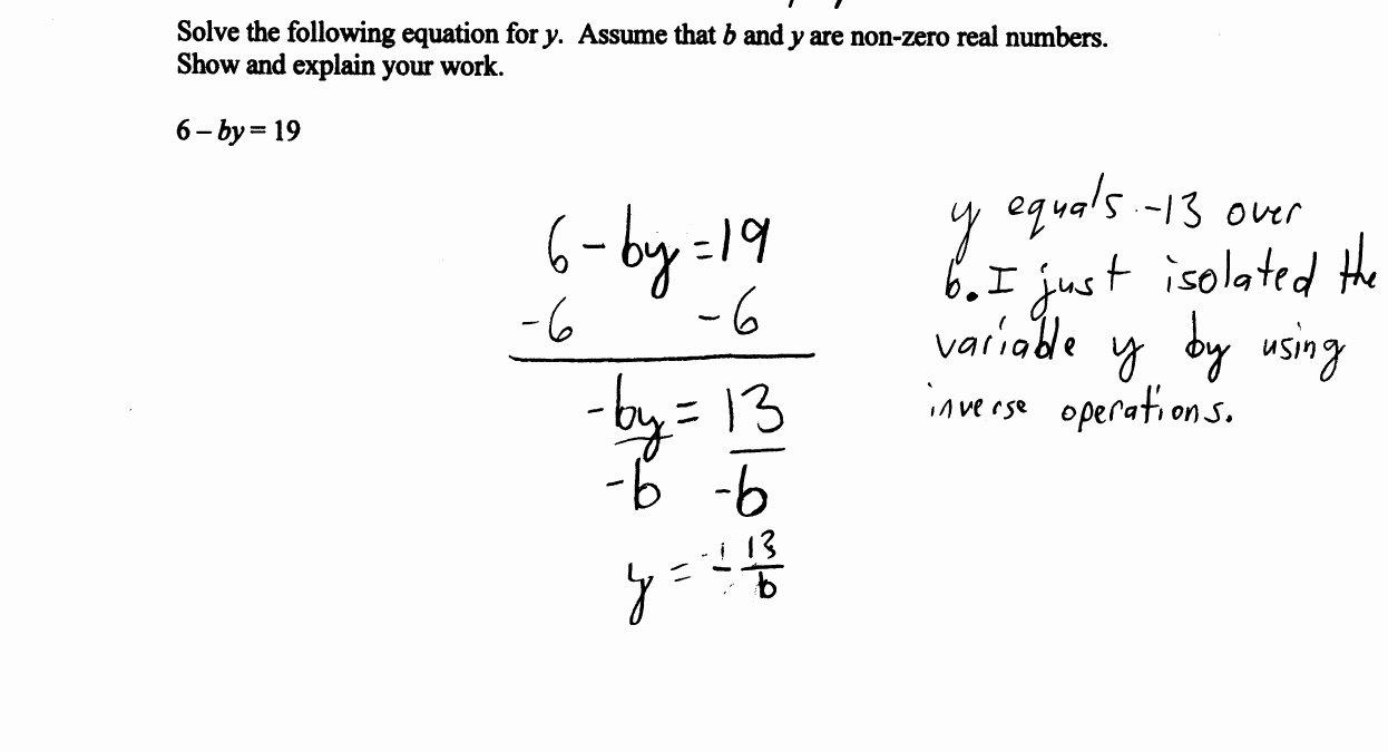 Solving Literal Equations Worksheet Unique solving A Literal Linear Equation