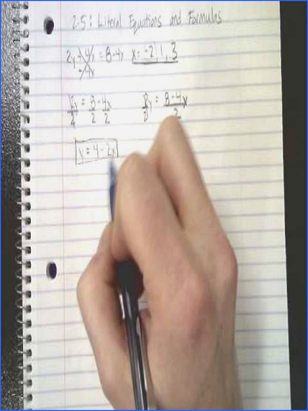 Solving Literal Equations Worksheet Unique solving Literal Equations Worksheet