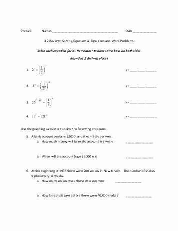Solving Logarithmic Equations Worksheet Best Of Exponential Equations Worksheet