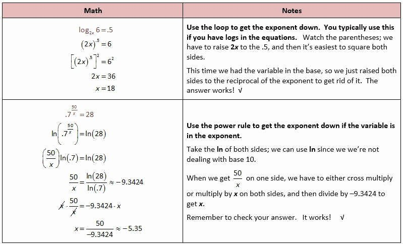 Solving Logarithmic Equations Worksheet Inspirational Exponential Equations Worksheet