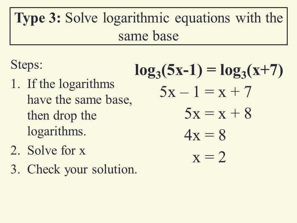 Solving Logarithmic Equations Worksheet Inspirational solving Logarithmic Equations Worksheet