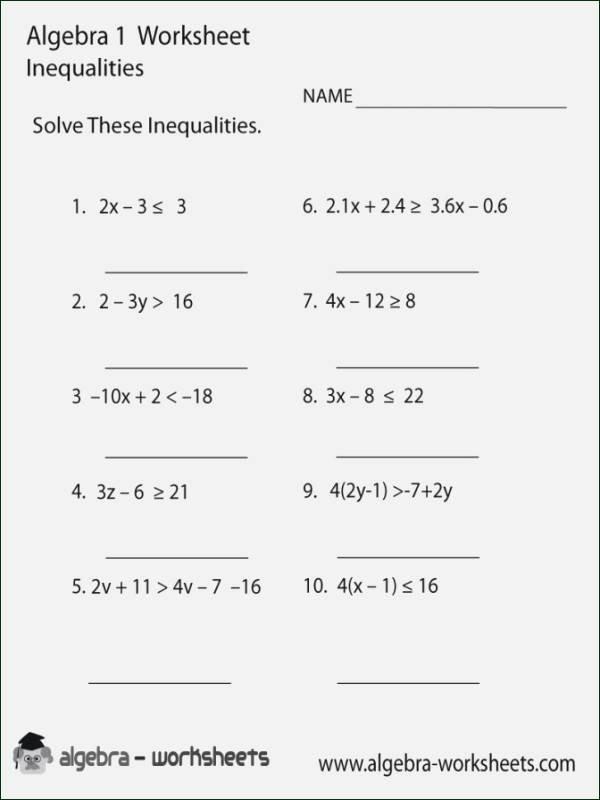 Solving Multi Step Inequalities Worksheet Elegant solving Multi Step Inequalities Worksheet