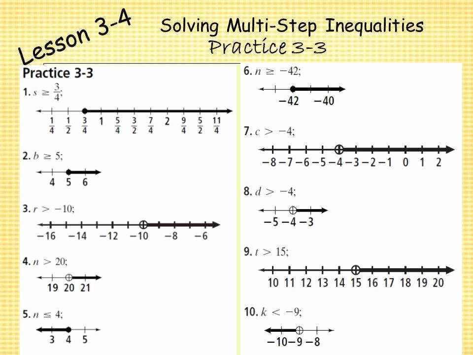 Solving Multi Step Inequalities Worksheet Luxury solving Multi Step Inequalities Worksheet
