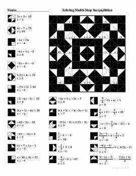 Solving Multi Step Inequalities Worksheet New solving Multistep Inequalities Color Worksheet by Aric