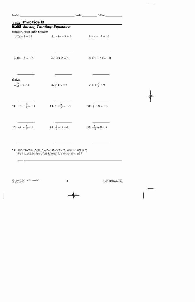 Solving Polynomial Equations Worksheet Answers Awesome 2 3 Practice solving Multi Step Equations Answers form K