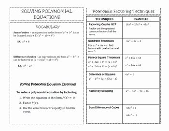 Solving Polynomial Equations Worksheet Answers Beautiful Algebra 2 solving Polynomial Equations Math