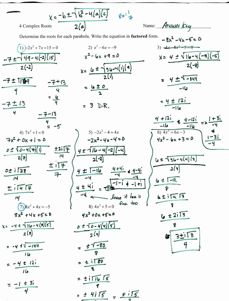 Solving Polynomial Equations Worksheet Answers Best Of Factoring Polynomials Worksheet with Answers Algebra 2