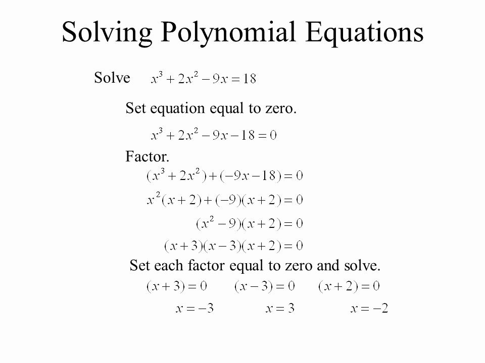 Solving Polynomial Equations Worksheet Answers Lovely solving Higher Degree Polynomial Equations Worksheet