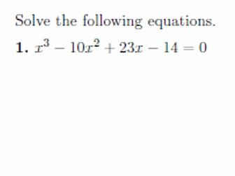 Solving Polynomial Equations Worksheet Answers Luxury Factorising Cubic Polynomials and solving Cubic Equations