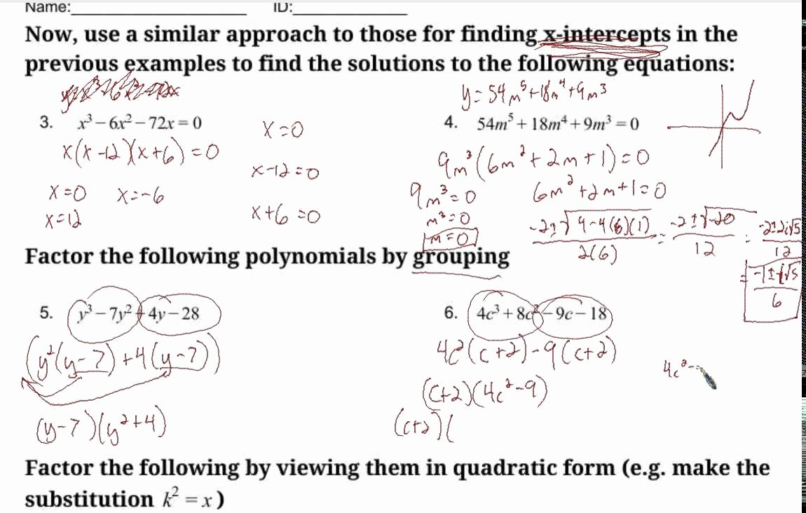 Solving Polynomial Equations Worksheet Answers Unique Khan Academy solving Polynomial Equations by Factoring