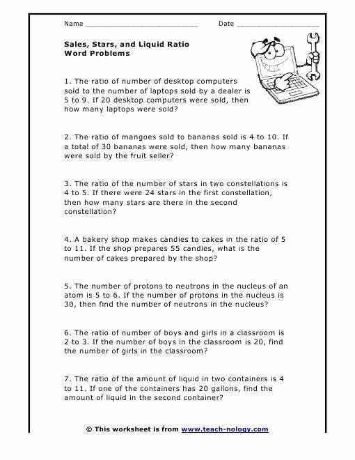 Solving Proportions Word Problems Worksheet Best Of Ratio Word Problems Worksheet