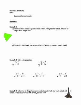 Solving Proportions Worksheet Answers Fresh Ratio and Proportion Worksheet with Answer Key by Max Math