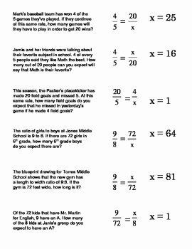 Solving Proportions Worksheet Answers Inspirational Using Proportions to solve Word Problems How to solve