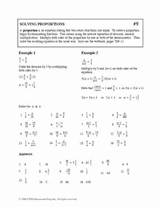 Solving Proportions Worksheet Answers Luxury solving Proportions Worksheet for 9th Grade