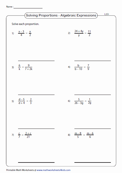 Solving Proportions Worksheet Answers Unique solving Proportions Worksheets