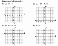 Solving Quadratic Inequalities Worksheet Unique Quadratic Inequalities Worksheets